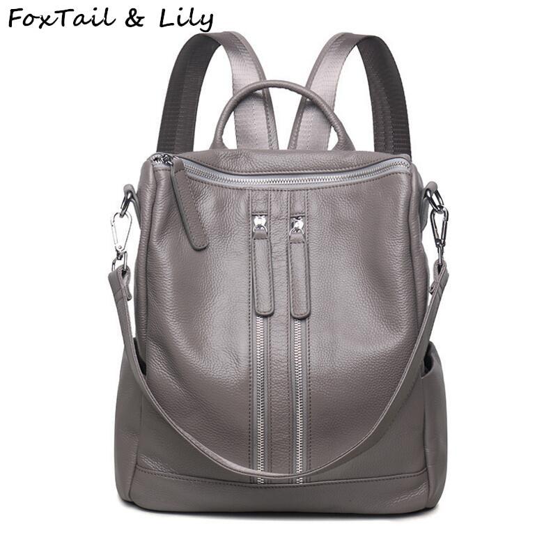 f03ac82483 FoxTail   Lily Γνήσιο Δερμάτινο Backpack Γυναικών Πρακτική Casual ...