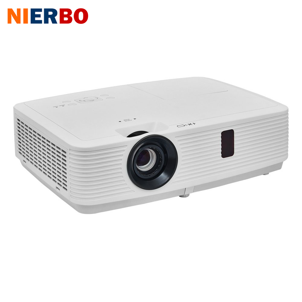 NIERBO 1080P Projector 3LCD Home Projector Business Daylight Full HD Projectors Home Theater WUXGA 4000 ANSI Lumens 3LCD+3LED lcx111aaj8 projector lcd panel lcx124 lcx094 lcx101 lcx111 lcx111a for most of projectors