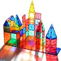 15-60 шт. прозрачный цвет Магнитный конструктор моделирование и строительство строительный набор магнитные блоки кирпичи игрушки для детей п...