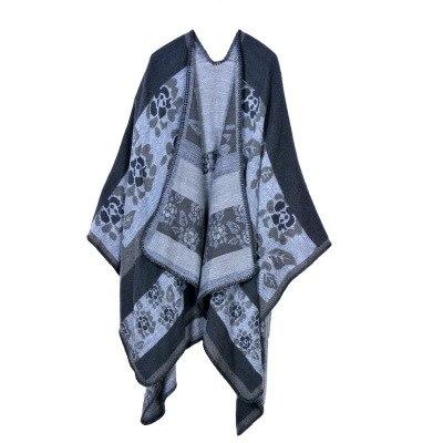 Новинка, модные зимние теплые клетчатые пончо и накидки для женщин, Большие шали и накидки, кашемировые пашмины женские накидки - Цвет: 16