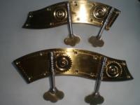 1 Set Qualité Contrebasse Peg 3/4 À 4/4 Sans Sculpture Fleur Inlay Machine Tuner Tête