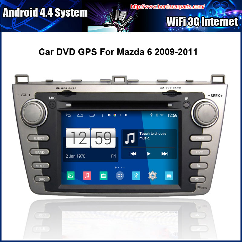 Android Car DVD player FOR <font><b>MAZDA</b></font> <font><b>6</b></font> 2009-2011 <font><b>GPS</b></font> Navigation Multi-touch Capacitive <font><b>screen</b></font>,1024*600 high resolution. image