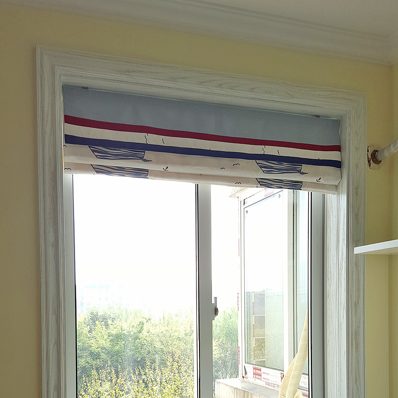 Roman Blinds Mediterranean Bedroom Windows And A Small Sailboat Custom Window  Blinds Folded Down Short Curtain In Curtains From Home U0026 Garden On ...