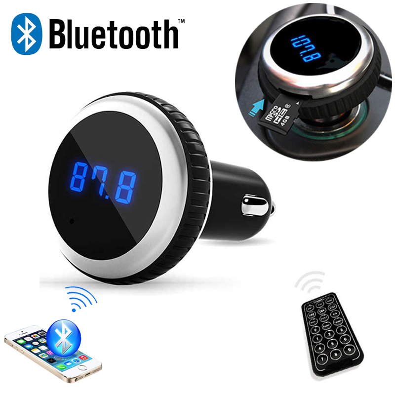 font b Car b font MP3 Audio Player Bluetooth FM Transmitter With Remote Control Wireless