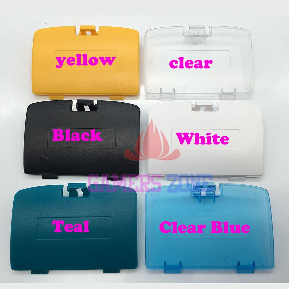 For GAME BOY COLOR REPLACEMENT BATTERY COVER LID DOOR FOR GBC SYSTEM CONSOLE WHITE BLACK CLEAR