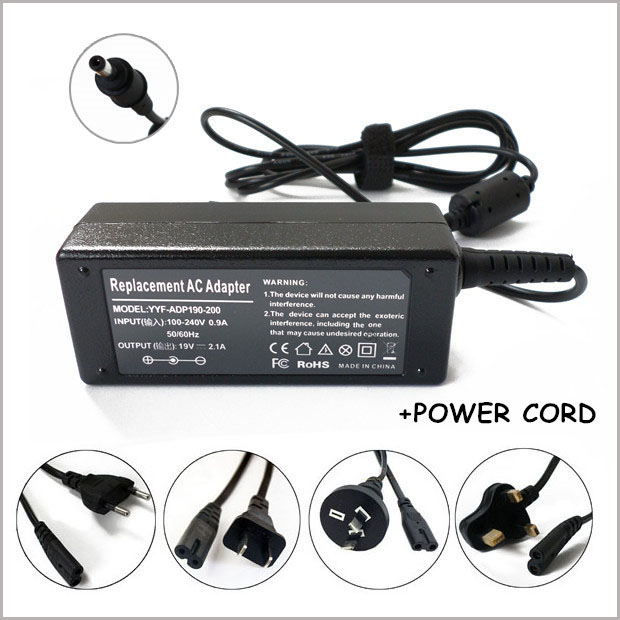 19V 2.1A 40W Laptop AC Adapter Charger For Cadernos Samsung Series 9 Chromebook XE500C21-H01US Series 5 Chromebook 3G Notebook