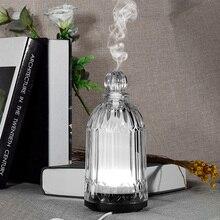 120 мл ароматическая лампа, увлажнитель воздуха, стеклянный арома-диффузор, масляная горелка, 3 цвета, меняющий светодиодный свет, Ароматический диффузор, аромалампа
