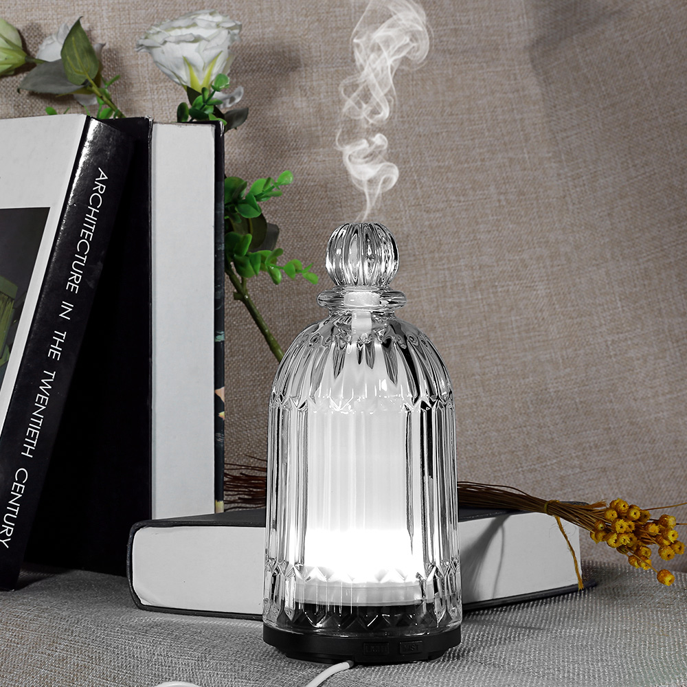 120ml Aroma Lamp Air Humidifier Glass Aroma Diffuser Oil