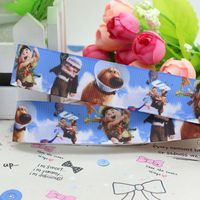 7/8'' Free shipping up cartoon printed grosgrain ribbon hairbow diy party decoration wholesale OEM 22mm P2382