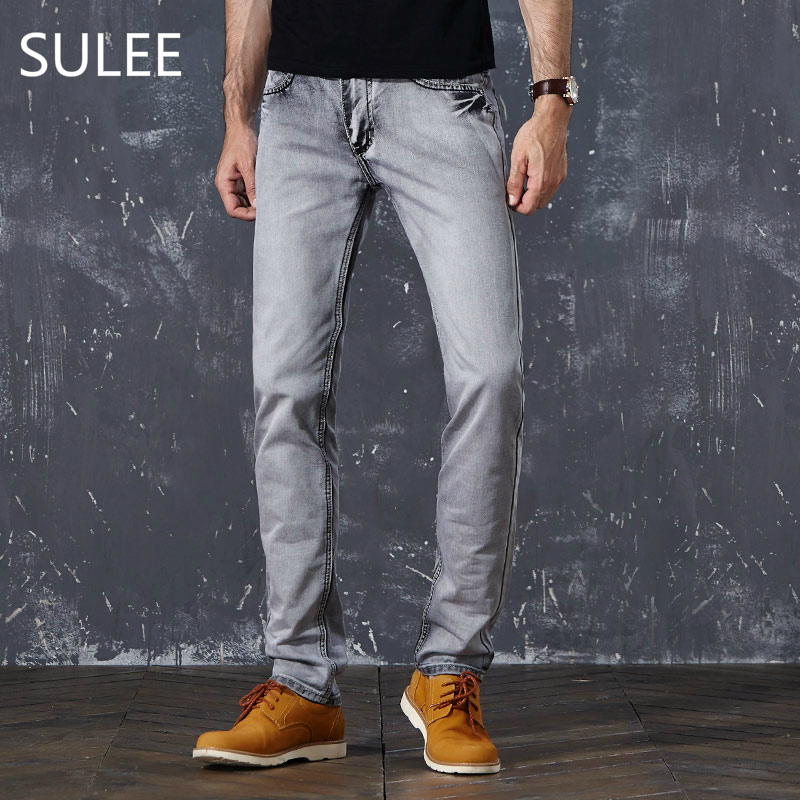 Sulee Brand Hot Sale Basic Classic Mens Casual Slim Jeans Men Washed Stretch Denim Quality Fit Loose Waist Jeans For Jean