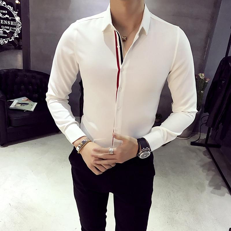 XMY3DWX uomini manica lunga camicia personalità di vendita di marca - Abbigliamento da uomo - Fotografia 2