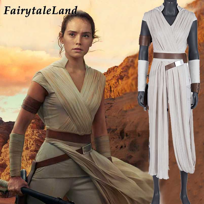 Star Wars 9 Rey Costume Cosplay The Rise Of Skywalker Halloween Costume Fancy Outfit Jedi Rey Suit Hoodie Belt Arm Bands Aliexpress