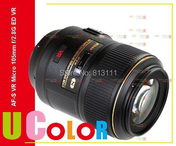New Nikon AF-S 105mm f/2.8G ED IF VR Micro Nikkor Lens фотоаппарат nikon d7100 kit af s dx vr 18 105 mm f 3 5 5 6g ed