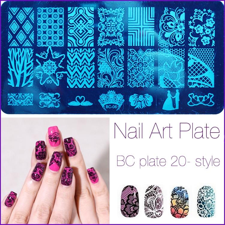 1 Pcs Nail Art Stamping Plates Big Image Pattern Transfer Print