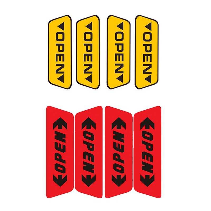 Porta do carro Adesivo Refletivo de segurança Do Carro Porta Aberta Aviso Lembrete Adesivo Interiror Decoração