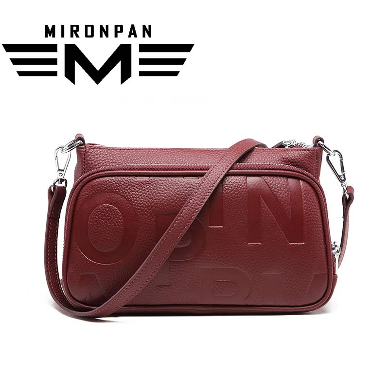 MIRONPAN Luxury Handbags Women Bags Designer Ladies Genuine Leather Handbag Shoulder Bag Fashion Soft Women'S Bags zooler women handbag elegant ol shoulder bag ladies cow leather handbags fashion corssbody bags designer genuine leather handbag
