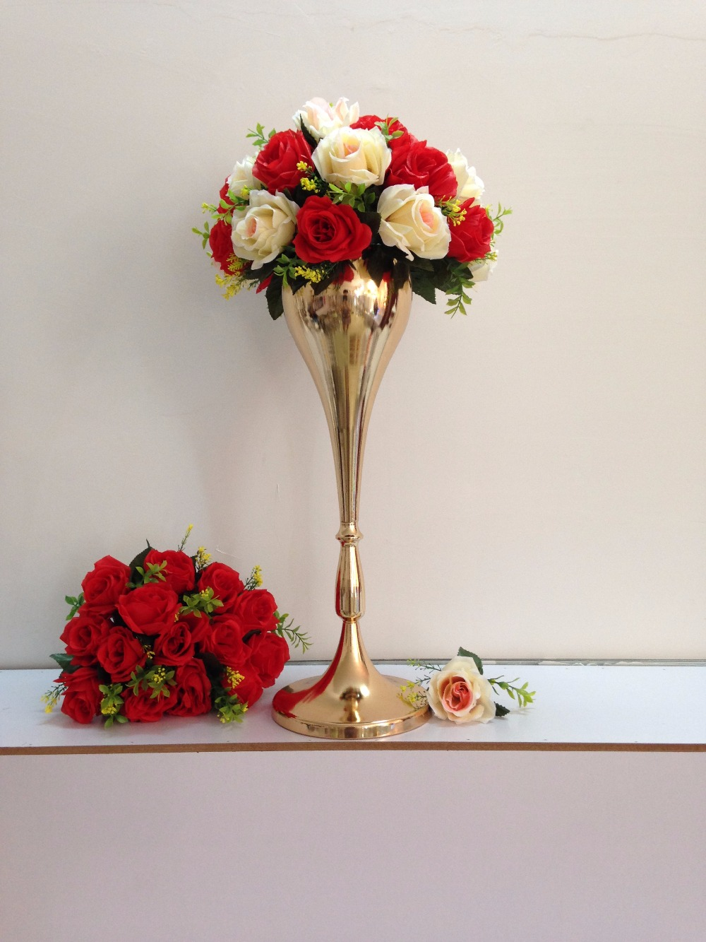 Luxury wedding table standflower vasewedding propsparty table luxury wedding table standflower vasewedding propsparty table centerpiece height of 56cm in vases from home garden on aliexpress alibaba group izmirmasajfo Images