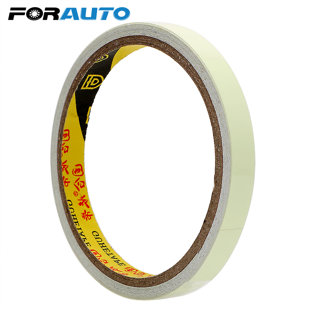 10mm*3m DIY Car Sticker Night Vision Warning Tape Luminous Tape Car-styling Self-adhesive Safety Auto Stickers