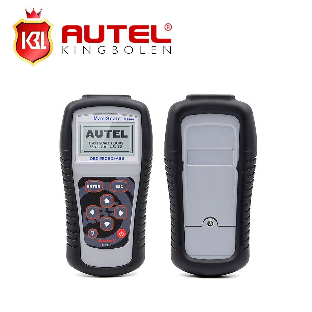 Autel maxiscan ms609 obd ii eobd scan tool abs ms 609 auto code reader original free update online dhl free shipping