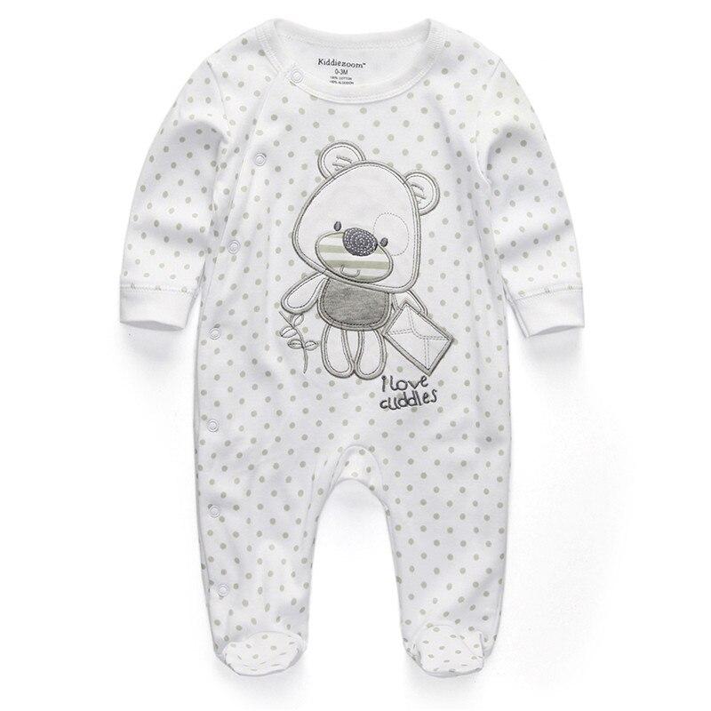 Unisex Baby Romper Newborn Clothes Cartoom Dot Bear Infant 0 3 6 9 12 Months Roupas De Bebe Baby Boys Girls Clothing Pajamas