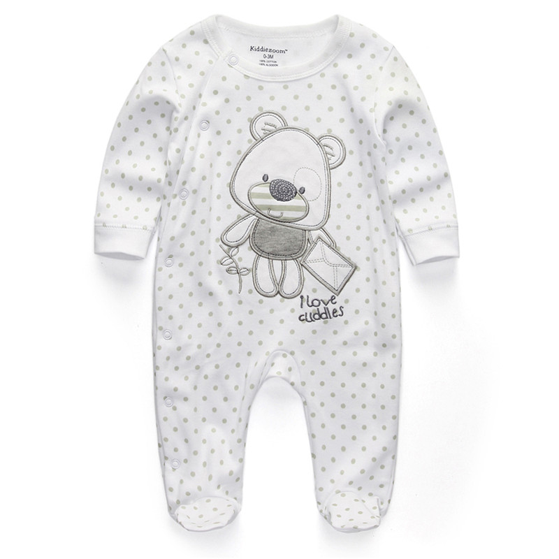 Uni baby romper Newborn Clothes cartoom Dot Bear Infant