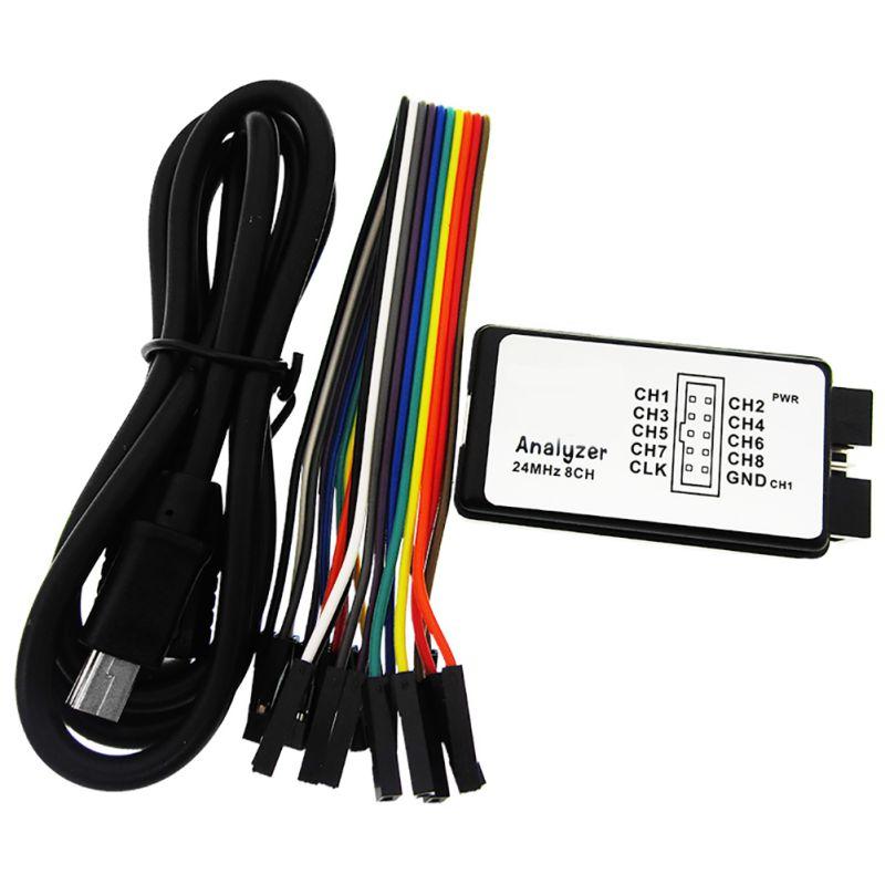 USB Analyseur Logique 24 m 8CH Microcontrôleur ARM FPGA Outil de Débogage 24 mhz, 16 mhz, 12 mhz, 8 mhz, 4 mhz, 2 mhz