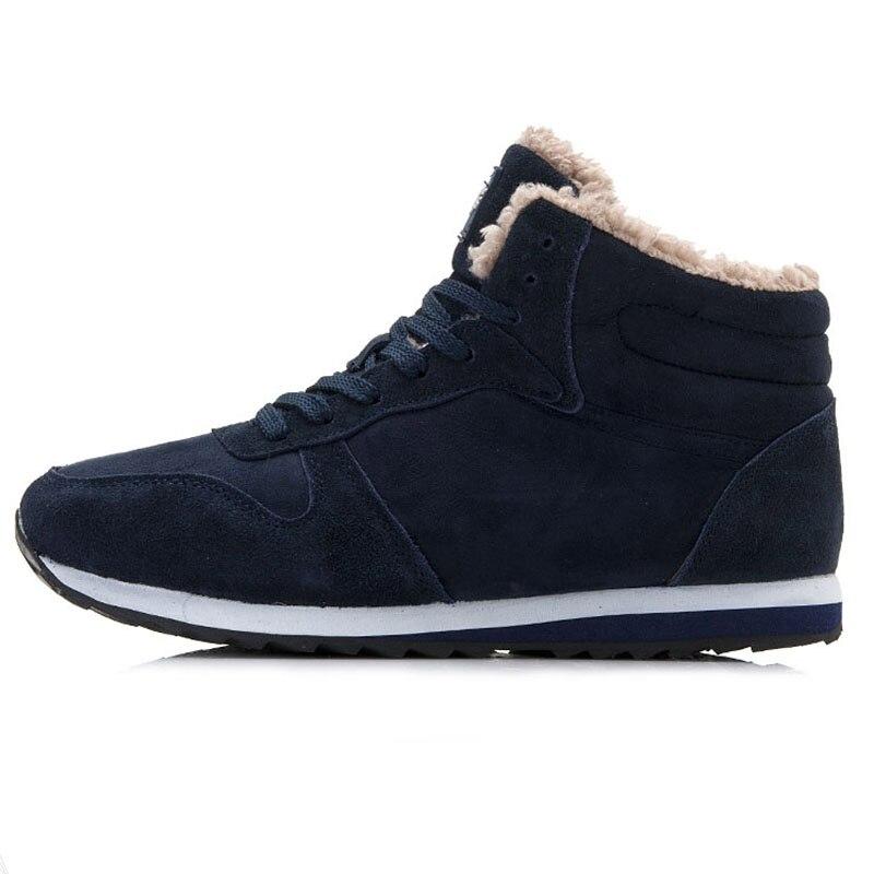 Image 2 - Новая мужская обувь мужская зимняя обувь модные мужские кроссовки, большие размеры 37 46, зимние кроссовки с теплым мехом, повседневные кроссовки мужские красовки-in Мужская повседневная обувь from Обувь