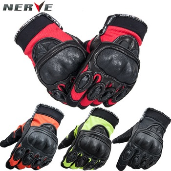 2019 New Fashion NERVE KQ-016 German summer motorcycle gloves breathable drop resistance knight riding gloves leather gloves