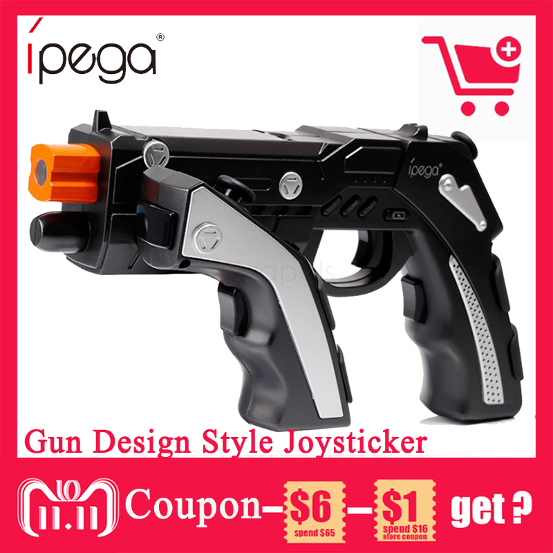 iPega PG-9057 PG 9057 Wireless Bluetooth Game Controller Gun Design Style Joysticker Game Pad Handset for iOS Xiaomi Smartphone