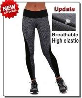 Nuevo Deporte de Las Mujeres Leggings Pantalones Patchwork Señora de Cintura Alta Estirada Leggings Gym Fitness Corriendo Pantalones Leggings Plus Tamaño XXXL