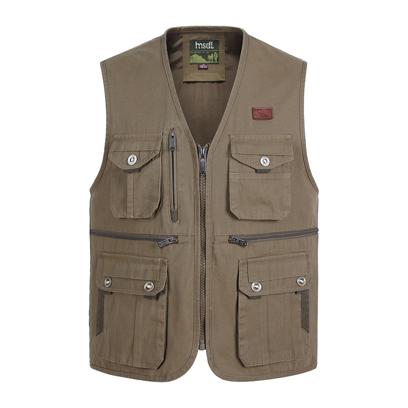 Summer Multi Pocket Vest For Men Spring Autumn Male Casual Photographer Travel Sleeveless Jacket Tool Waistcoat With Many Pocket