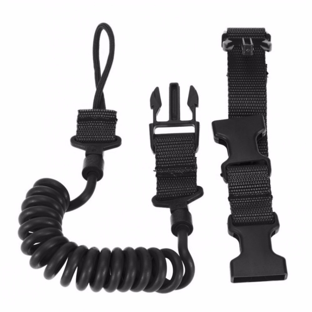 Durable&Elastic Outdoor Tactical Safety Lanyard Quick Release Belt Extension-type Sling Adjustable Belt Combat Accessories pair of safety adjustable high impact resistance outdoor kneepad