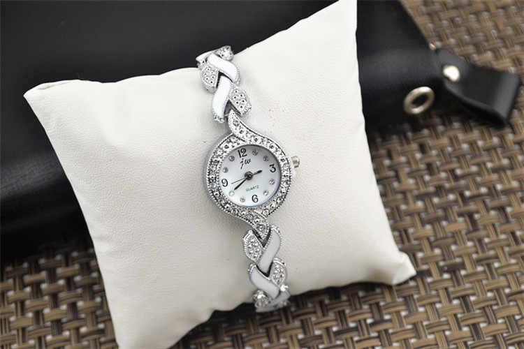 Moda Marka JW Bilezik Saatler Kadınlar Lüks Kristal Elbise Saatı Saat kadın Moda günlük kuvars saat reloj mujer