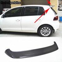R Стиль УГЛЕРОДНЫЙ спойлер крыло для Volkswagen VW Golf 6 VI MK6 только 2008 ~ 2012 не подходит GTI не R