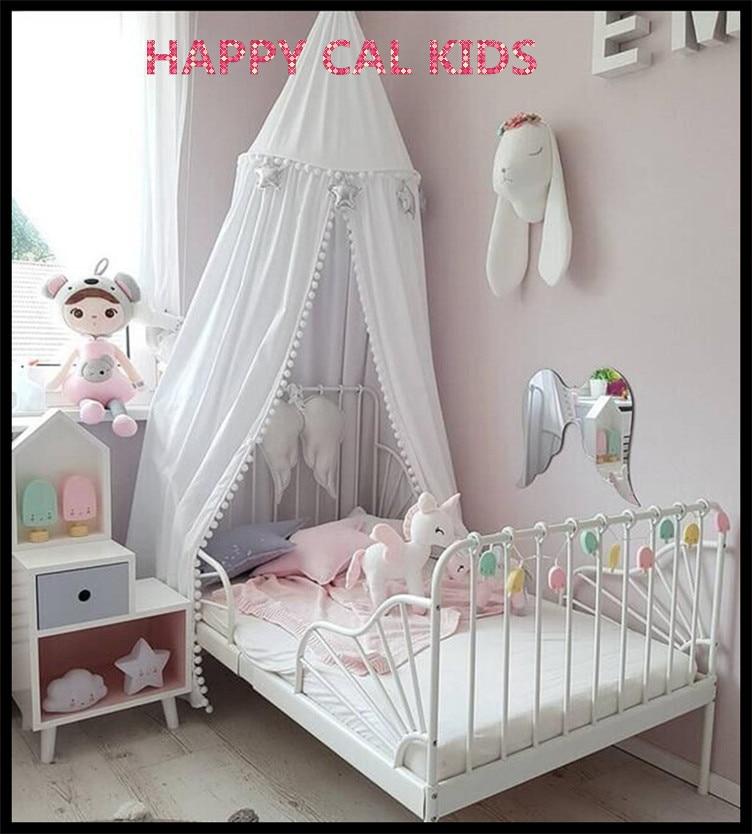 100% Baumwolle Kinder Spielen Zimmer Decor Tipi Prinzessin Bett Baldachin  Bettdecke Moskitonetz Zelt 3 Farben In 100% Baumwolle Kinder Spielen Zimmer  Decor ...