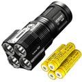 Nitecore TM28 6000 люминесцентный перезаряжаемый фонарик/прожектор-4x XHP35 HI светодиодный с 4x Nitecore 3100mAh 18650 IMR батареи