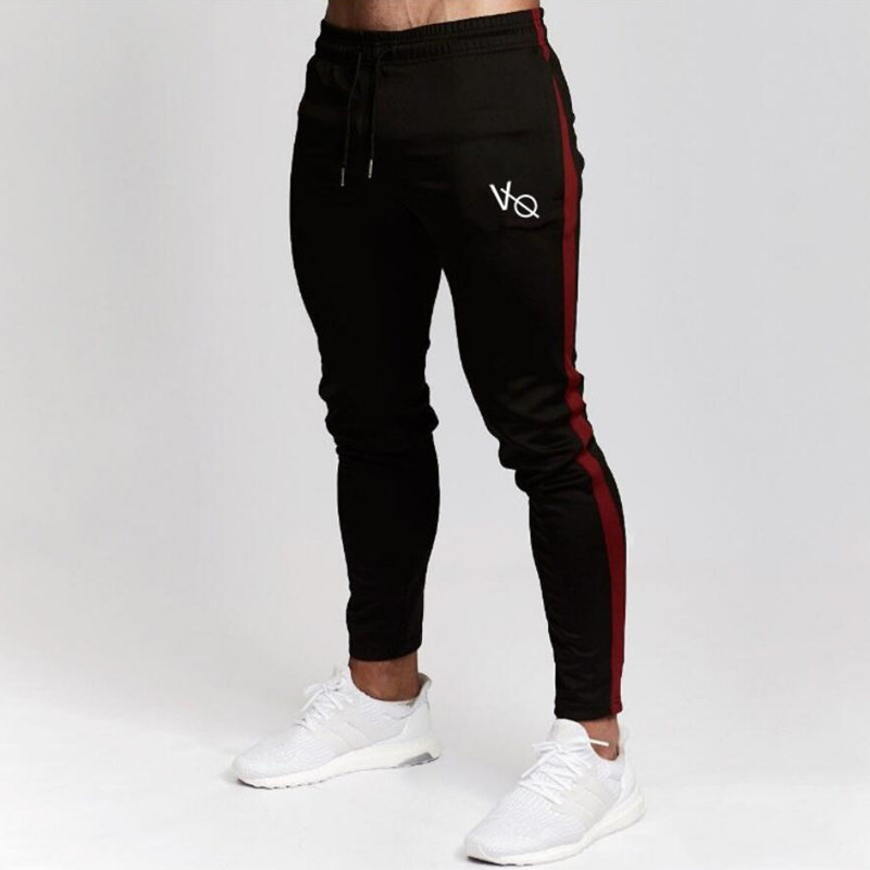 Hombre Joggers pantalones casuales pantalones de Fitness Hombre Ropa Deportiva pantalones de chándal ajustados pantalones de chándal Pantalones negro gimnasios camisetas Pantalones