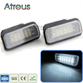 2X Car LED License Plate Lights 12V SMD3528 LED Number Plate Lamp Bulb Kit For Mercedes W211 W203 5D W219 R171 Benz Accessories