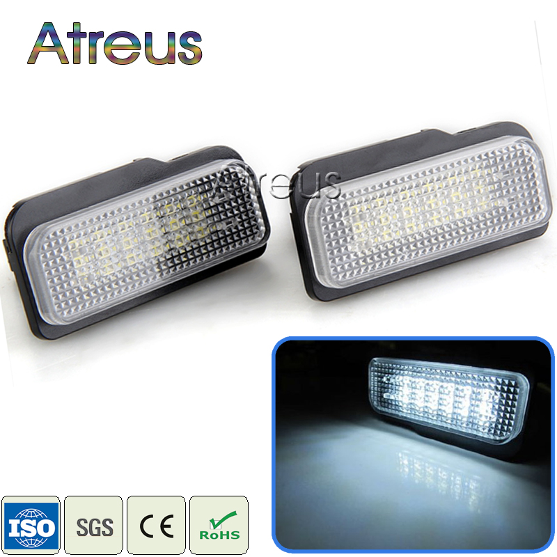 Atreus Car LED License Plate Lights For Mercedes W211 W203 5D W219 R171 Benz AMG Accessories White SMD Number Plate lamp 12V auto fuel filter 163 477 0201 163 477 0701 for mercedes benz