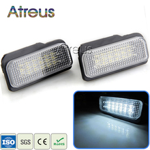 Atreus Car LED License Plate Lights For Mercedes W211 W203 5D W219 R171 Benz AMG Accessories White SMD Number Plate lamp 12V