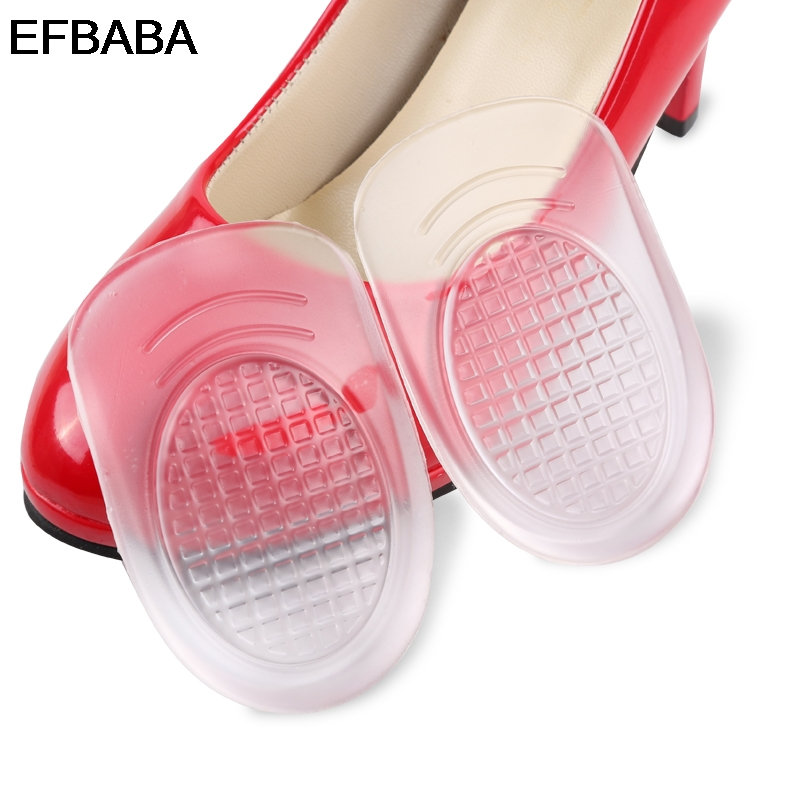 EFBABA Pads Gel Cushions Damping Insole Silicone Insoles Heel Inserts Shoe Liners Accessoire Chaussure Semelles Gel Shoes Pad expfoot orthotic arch support shoe pad orthopedic insoles pu insoles for shoes breathable foot pads massage sport insole 045