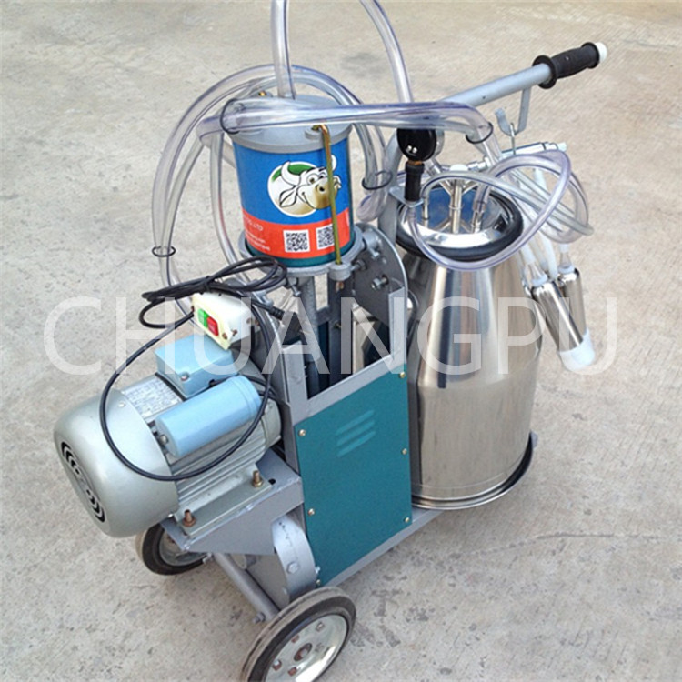 Single Bucket Piston Pump Milking Machine for Cows Milk Factory