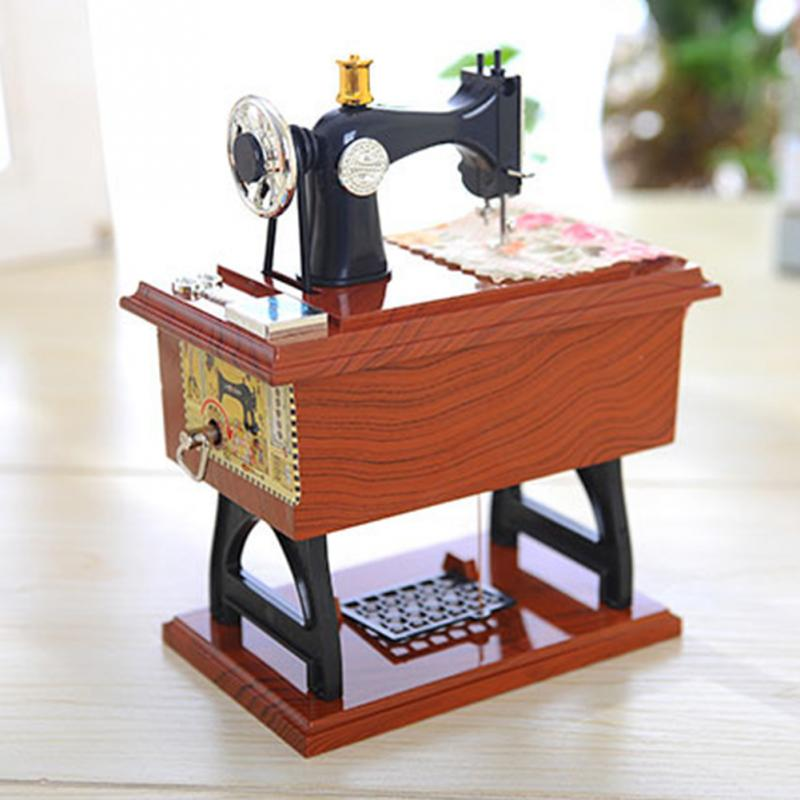 Retro Simulation sewing machine music boxbirthday gift for friends and family festival supplies