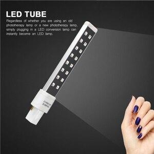Image 3 - Lâmpada para unhas uv led 16 leds 9w lâmpadas da lâmpada do prego para a cura substituída secador da arte do prego lâmpadas tubo de substituição