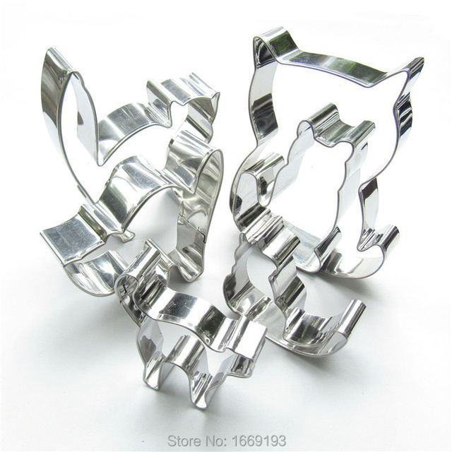 Six Lively Cats Shape Cake Cookie Biscuit Baking Molds,Animal Cake Decorating Fondant Cutters Tools,Direct Selling