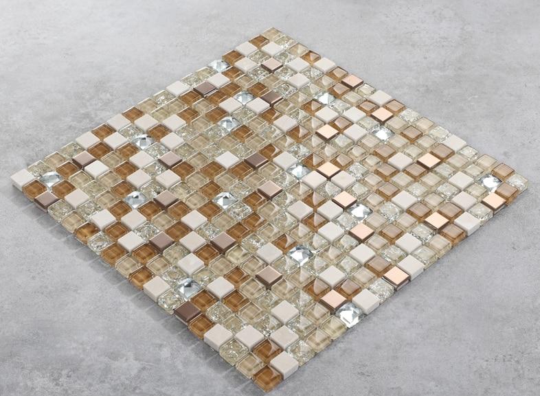 Shiny Glass Marble mosaic tile art design Marble stone mosaic tiles Bathroom wall TV/Kitchen backsplash countertop decor,LSTC003