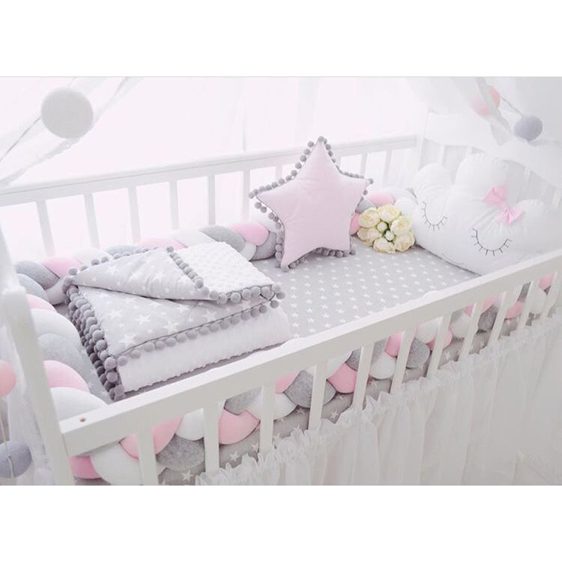 Bed Baby Crib Bumpers Safety Rail Protect the Baby Room Decoration 1
