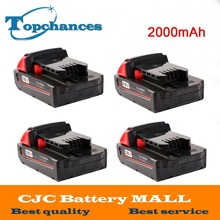 4X High Quality 18V 2000mAh Li-Ion Replacement Rechargeable Power Tool Battery for Milwaukee M18 XC 48-11-1820 M18B2 M18B4 M18BX