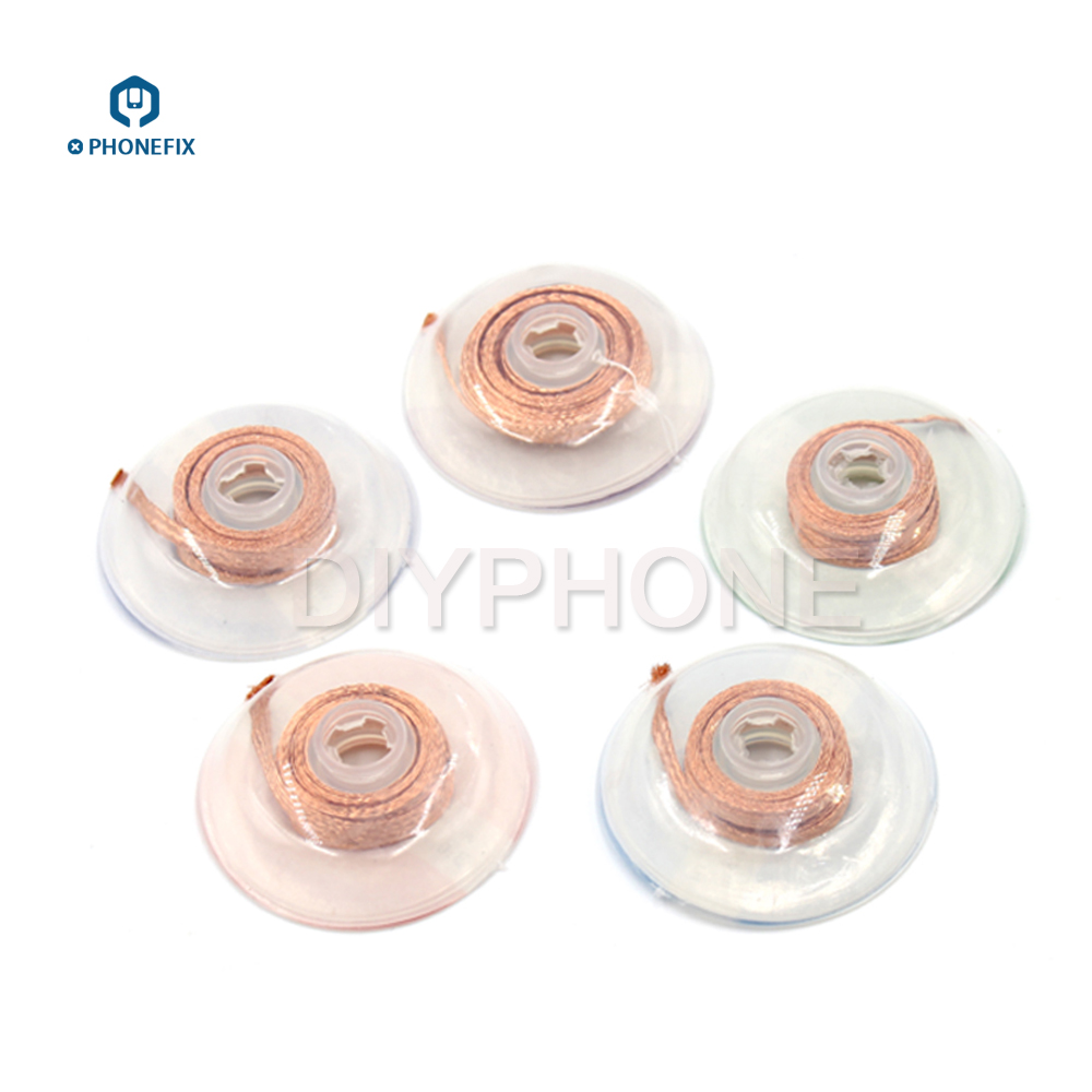 PHONEFIX 99.9% Pure Copper BGA Desoldering Wire Soldering Assistant Absorption Wire For Mobile Phone Motherboard Repair BGA