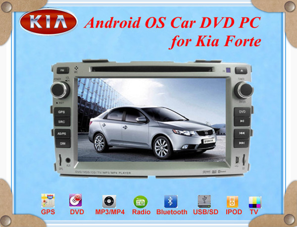 Hot sale!! Android Car DVD PC for KIA FORTE with1080P 1GHZ CPU 512MB RAM WIFI 3G +Free CCD camera